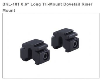 "BKL 181 0.6"" Tri Mount Risers for 3/8"" / 9-11mm Dovetail bases 17mm high"